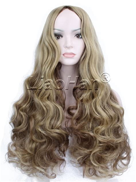 how to style costume wigs 2016 fashion wig long curly highlight brown wig brown hair