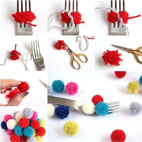 No Sew Blackout Curtains How To Diy Small Pom Poms With A Fork Icreativeideas Com