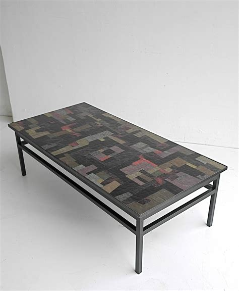 pia manu multi colored glass coffee table at 1stdibs