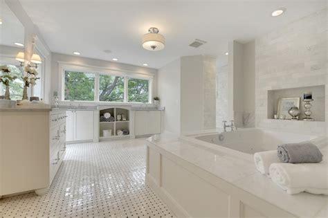 bathtub niche transitional bathroom divine custom homes