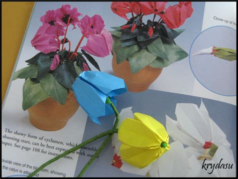 Origami Flower Books - krydasu origami cyclamen flowers