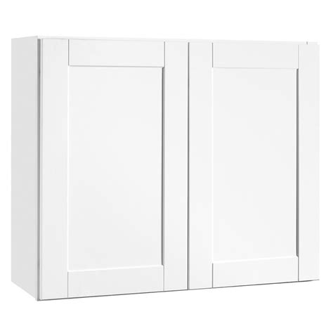 home depot white shaker cabinets hton bay shaker assembled 36x30x12 in wall kitchen