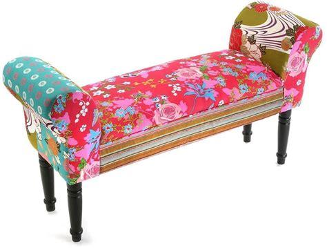 banquette bout de lit bout de lit avec accoudoirs patchwork