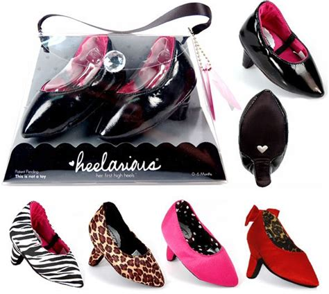 these heelarious baby high heels are for infants and