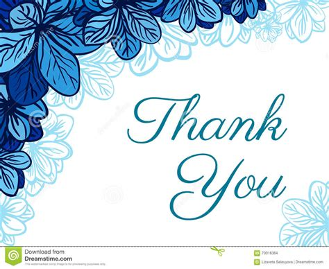 thank you cards templates with teeth thank you card with blue flowers wedding invitation stock