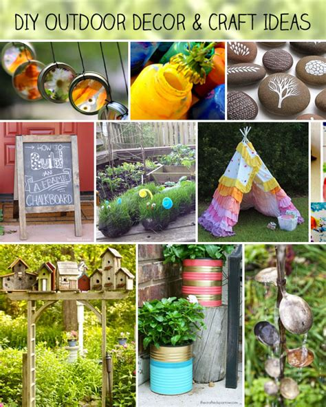 Garden Decoration Craft Ideas by Diy Outdoor Decor And Crafts 100 Directions