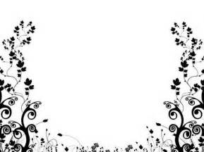 Designs In Black And White Black And White Flower Design Clipart Best