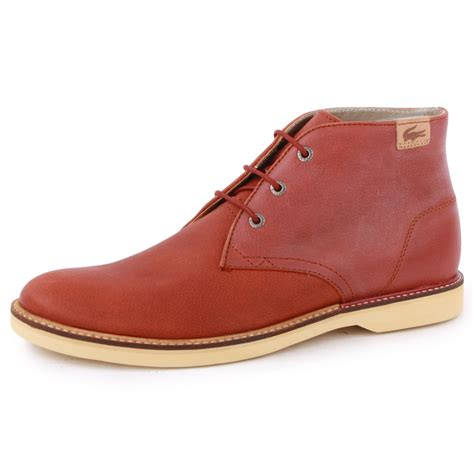lacoste boots lacoste sherbrooke hi 10 mens laced leather new shoes