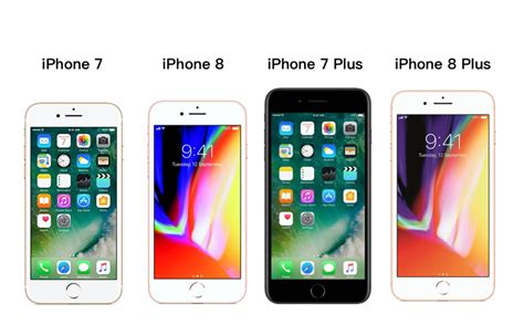 iphone 7 vs iphone 8 vs iphone 7 plus vs iphone 8 plus price in india specifications and