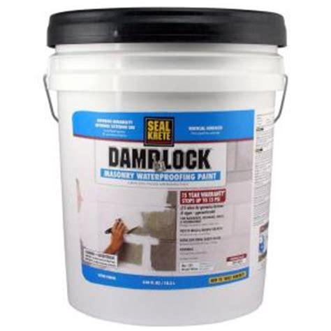 Sealer Paint For Plaster Ceiling by Seal Krete 5 Gal Dlock Masonry Waterproofing Paint