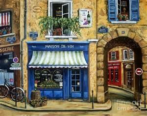 Duvet Shop Maison De Vin Painting By Marilyn Dunlap