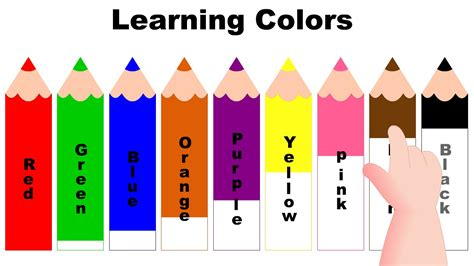 best color for kids learning colors with color pencils kids learning videos