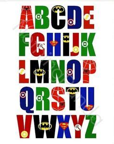printable superhero font superhero alphabet alphabet clipart batman alphabet
