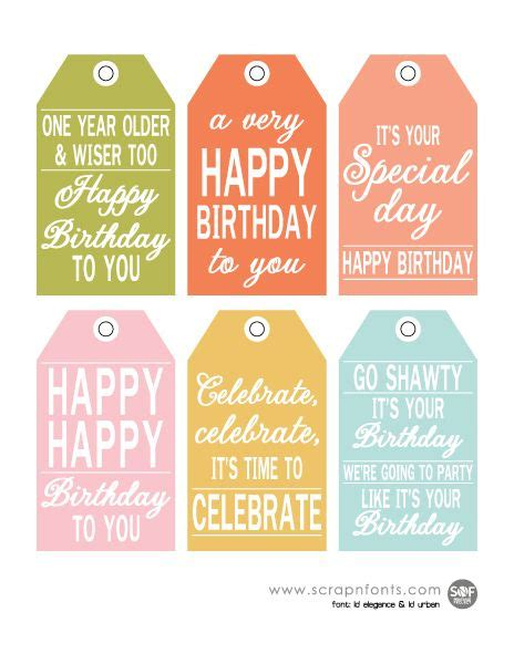 printable early birthday cards free printable birthday tags for gifts and goodies