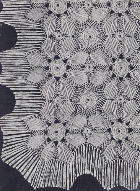 vintage crochet pattern motif bedspread sunburst leaf ebay