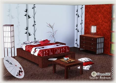 asian style bedroom sets japanese bedding cherry blossoms my sims 3 blog