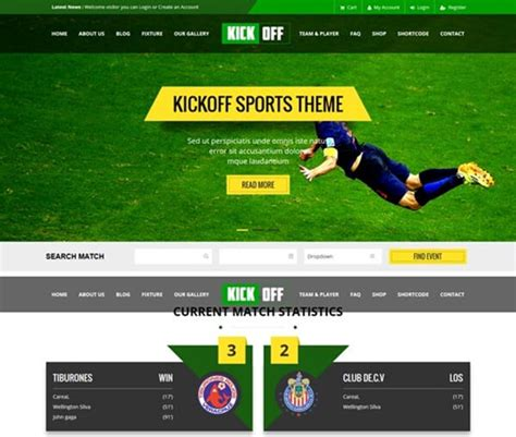 Sports Website Templates New Sports Themes Every Month Free Sports Web Templates
