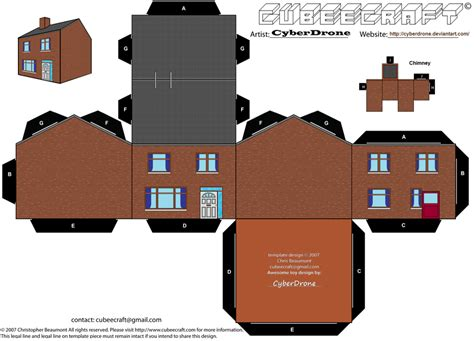 Papercraft Pattern - cubee house by cyberdrone on deviantart