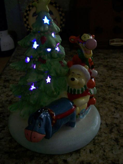 disney winnie the pooh ceramic lighted christmas tree