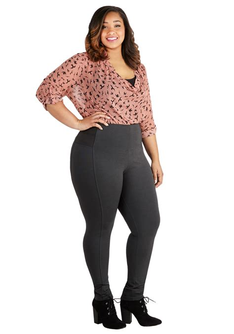 List Legging Allsize on the go glam in charcoal plus size mod