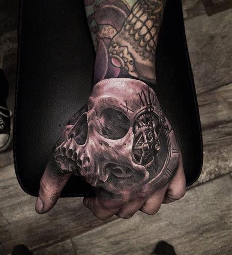 3d skull tattoo skull clock http tattooideas247 3d