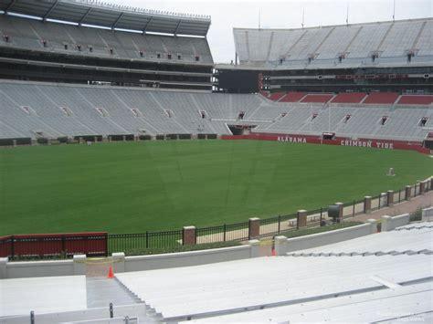 bryant denny stadium student section lower level corner bryant denny stadium football seating