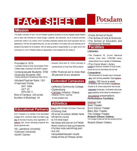 fact sheet template 60 beautiful fact sheet templates exles and designs