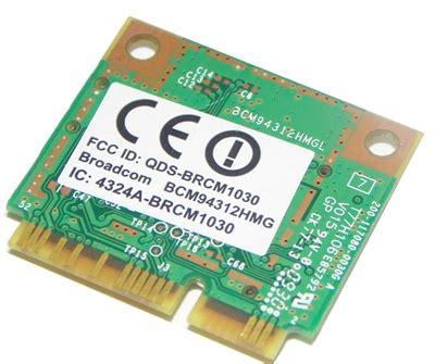 Broadcom Bcm94312hmg broadcom bcm94312hmg 802 11 b g pci e half mini wireless