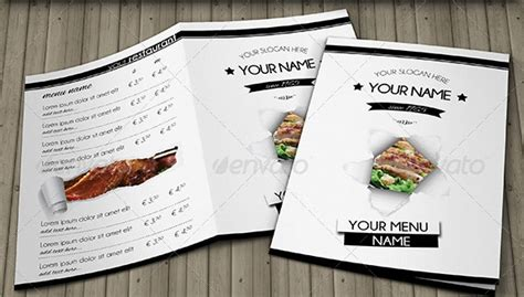 Free Menu Card Template Indesign by Free And Premium Food And Restaurant Menu Brochure