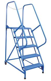 6 step portable maintenance ladders with perforated steps dockladdersdepot com