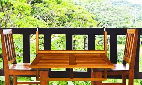 Table Balcon Bois by Table De Balcon En Bois D Acacia Groupon Shopping