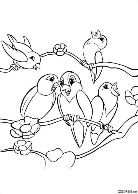 coloring pages of birds in trees coloring page birds on tree coloring me