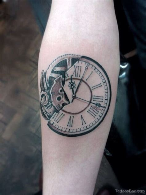 broken clock tattoo meaning 75 clock tattoos on arm