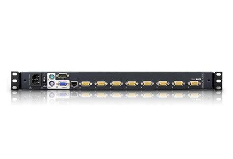 kvm switch visio stencil 1 local 1 remote access 8 port ps 2 vga dual rail lcd kvm