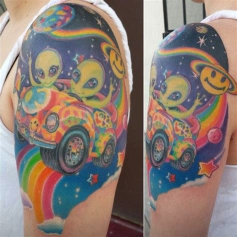 lisa frank tattoo hippie aliens i m want