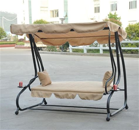 reclining patio swing with canopy aosom ca