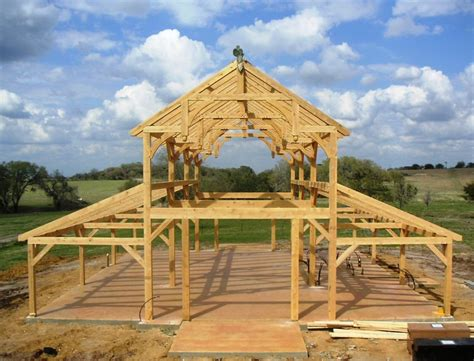 polebarn house plans texas timber frames the barn equipment barn in tx with hemlock frame and curved braces