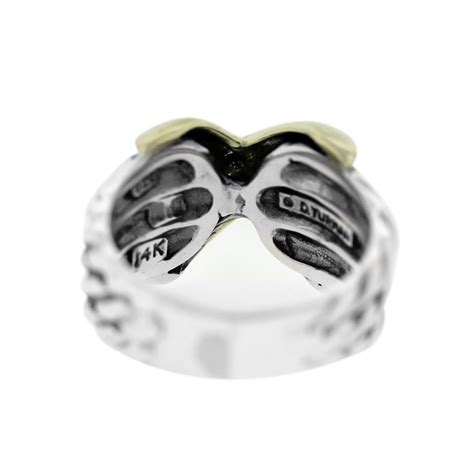 david yurman three row quot x quot sterling silver and gold ring