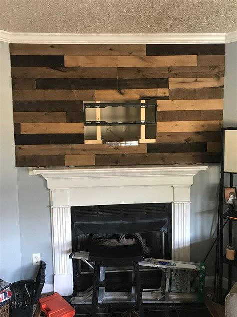 diy wood planked accent wall wood plank walls wood