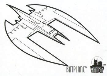 Batman Plane Coloring Page | 1995 skybox the adventures of batman robin coloring