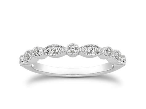 wedding bands pave fancy pave milgrain wedding ring band in 14k white