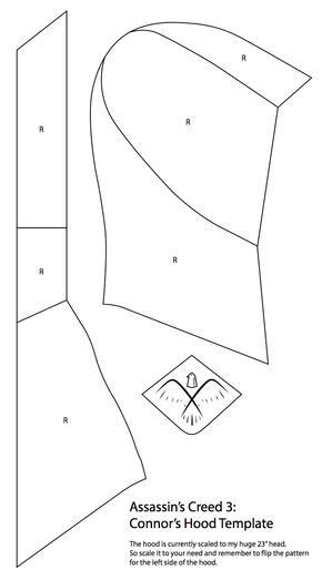 Head pattern (With images) | Hoodie sewing pattern