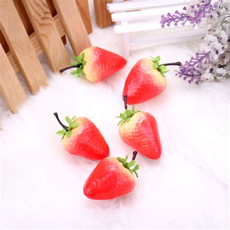 Strawberry Home Decor by Artificial Strawberry Model False Fruit Props Learning