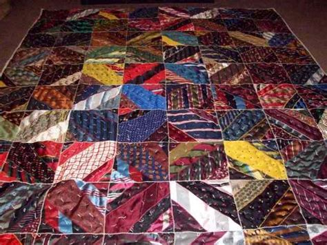 Mens Tie Quilt by S Tie Quilt Done And