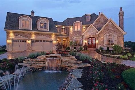 nice house stone homes big houses and home on pinterest