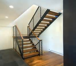 Open Staircase Open Modern Stair Modern Staircase Minneapolis By