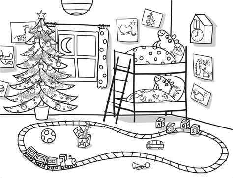christmas colouring pages peppa pig peppa pig colouring az coloring pages