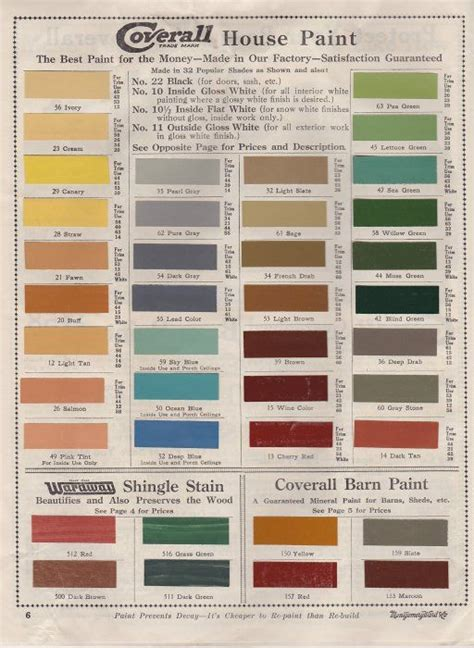 1919 paint catalog paint colors