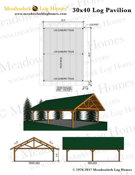 plans perspectives and elevations of timber pavilions 30x40 log pavilion meadowlark log homes