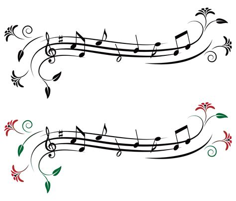 imagenes siluetas musicales vectores de notas musicales cuaderno de musica eps y ai